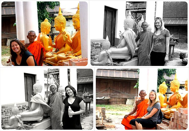 dani & jess with monk in sukothai