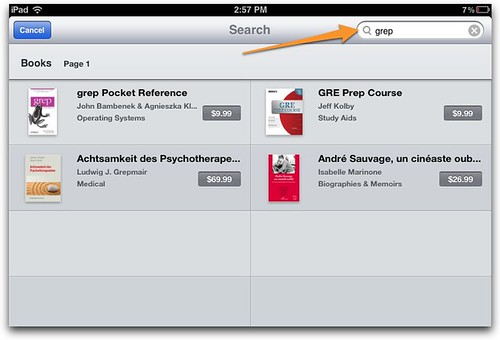Metadata in iBookstore