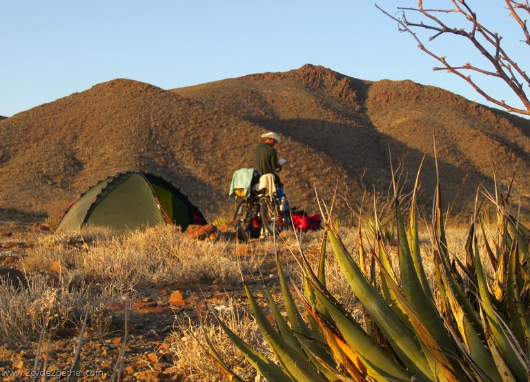 Wild Camp, Baja SW of Gonzaga Bay