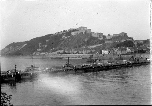 Le Rhin et la forteresse d´Ehrenbreitstein au dessus de Coblence (Rhénanie-Palatinat)