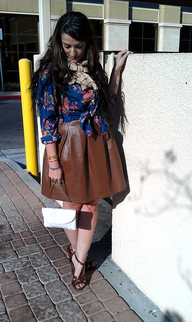 Pleather skirt F21