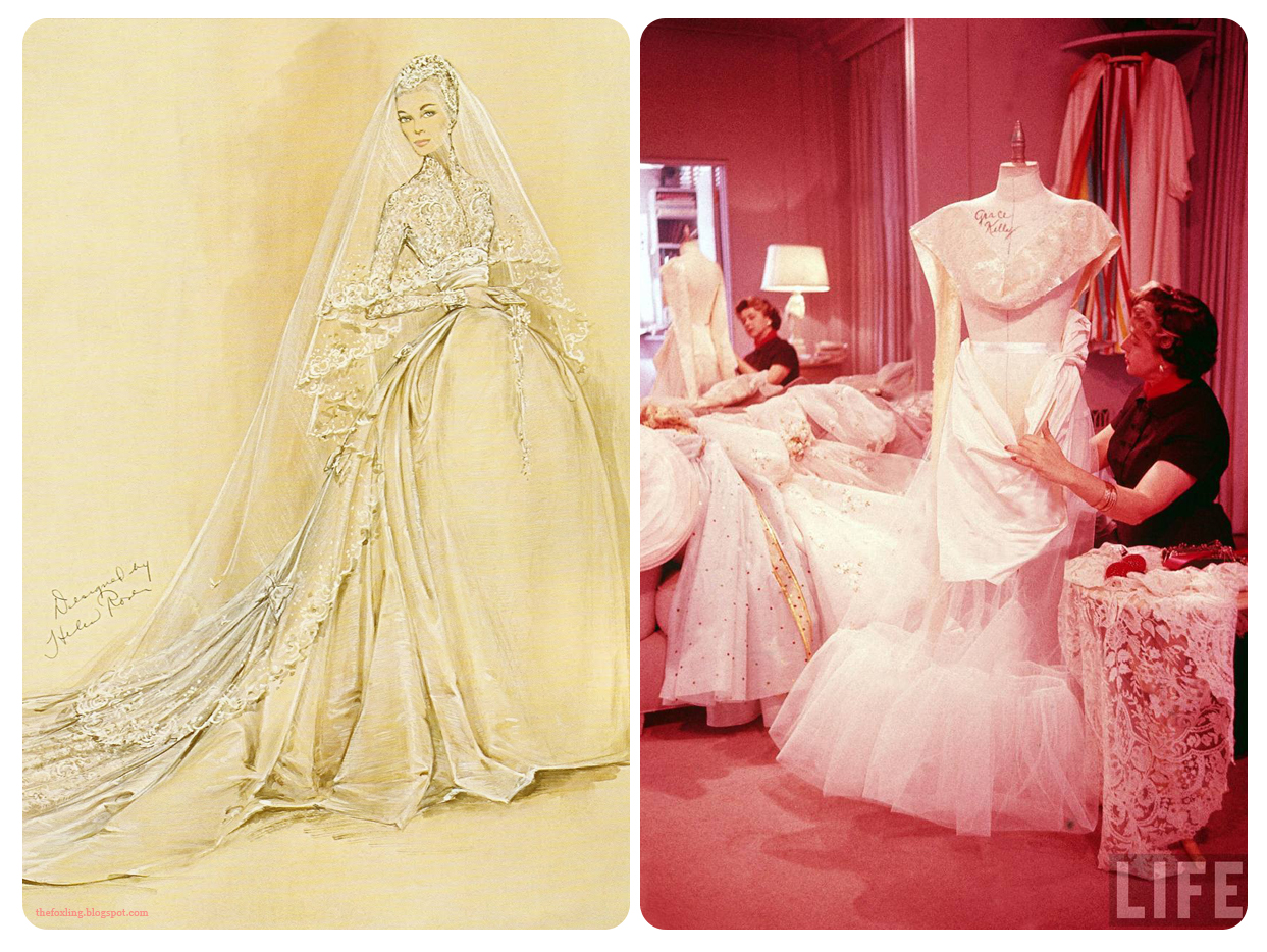Helen Rose's design for Grace Kelly's Wedding Dress