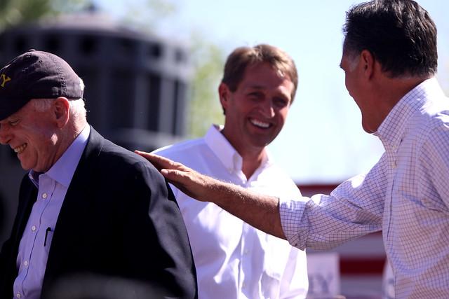 John McCain, Jeff Flake & Mitt Romney