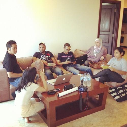 Meeting pra produksi muzik video single terbaru Alvin Anthons