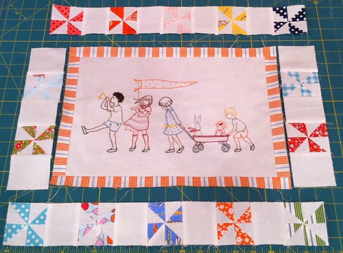 on parade mini quilt