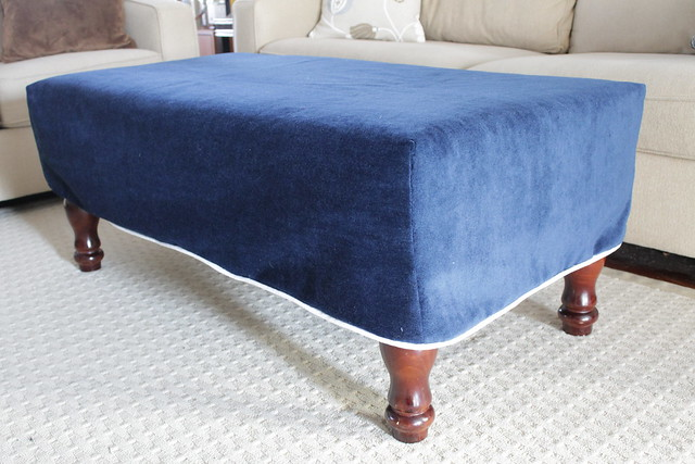 Ottoman Made from Coffee Table