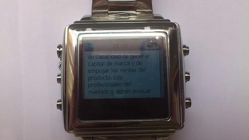Mi compra en Reloj SOS 3.0. |