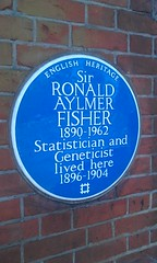 Photo of Ronald Aylmer Fisher blue plaque