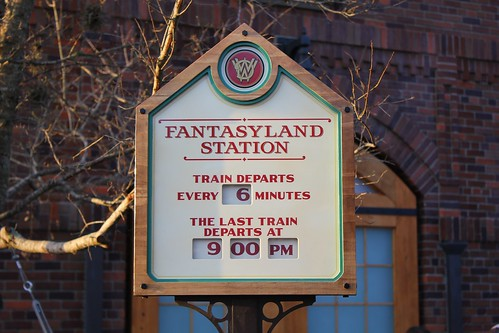 Fantasyland Train Station - Storybook Circus
