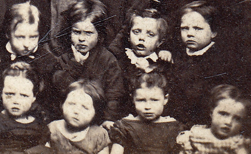 Children. Manchester. 1870s (enlarged detail)