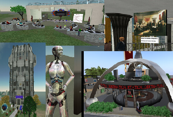 collage of second life images
