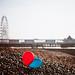 two abandoned balloons on brighton beach