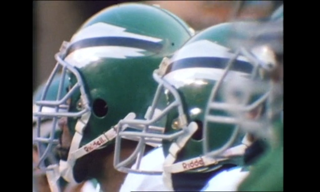 f3f80239 The Hungry Hungry Hipster was watching the Eagles' 1989 highlight film and  noticed several uni-notable details, including a close-up view of ...