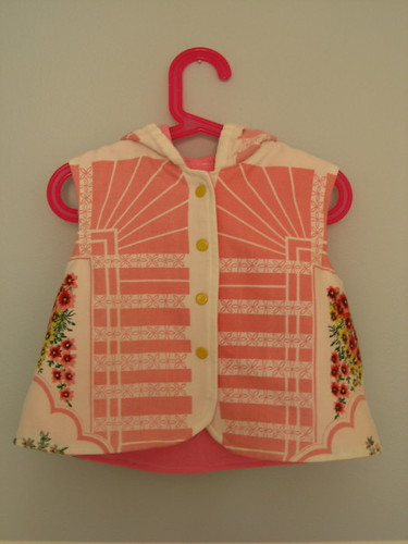vintage tablecloth hoodie front
