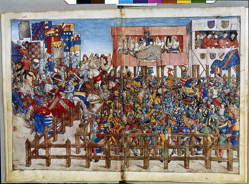 021-Le libre des tournois…1460- René d' Anjou-0-Français 2692, fol. 67v-68-Torneo