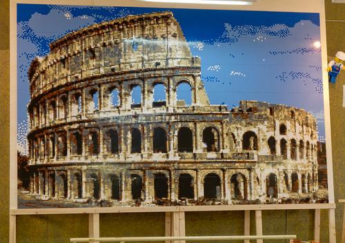 colosseum LEGO mosaic