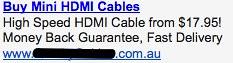 HDMI Cables - Ad #2