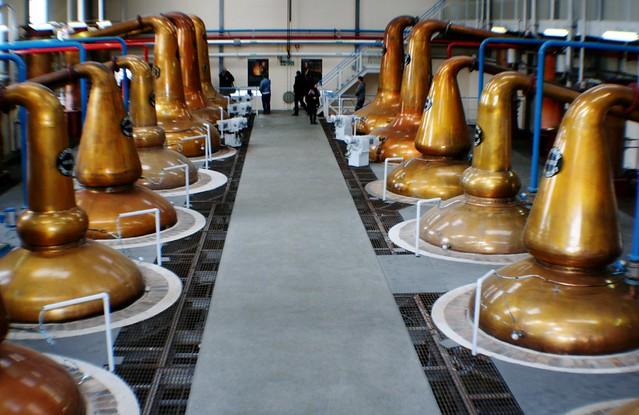 Wash and Spirit Stills at Glenfiddich Distillery