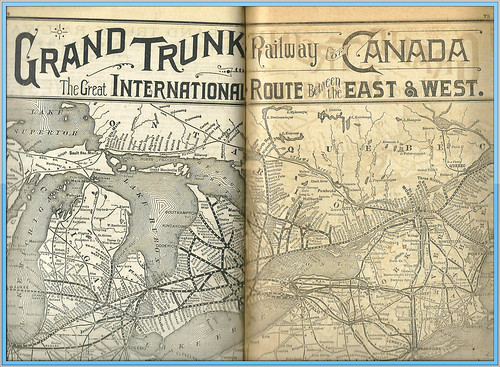 1895 Travellers Official Guide Railway & Steam Navigation Lines of the US and Canada, Grand Trunk Railway of Canada by mcudeque
