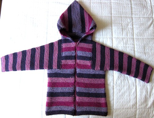 Plum Stripe Toddler Tomten Jacket for Z
