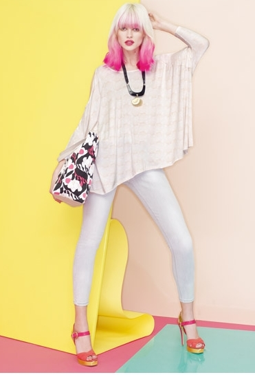 Olivia Rubin´s Collection for Dorothy Perkins - Pink cut-out shoulder top