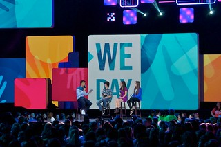 Joe Jones Interviews Students at We Day Seattle