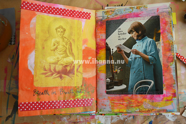 Art Journal Spread: Metta