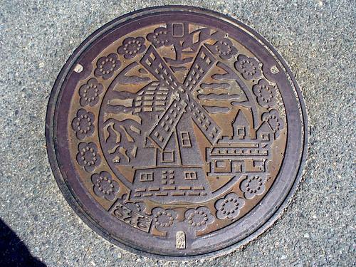 Saeki Okayama, manhole cover (岡山県佐伯町のマンホール)