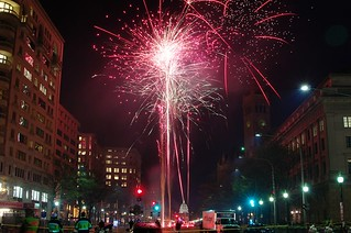 fireworks in the street