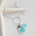 chalcedony charm necklace with sterling sand dollar