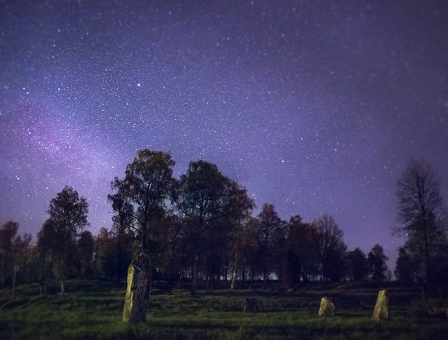 My first attempt on Astrophotography on a Viking burial ground.