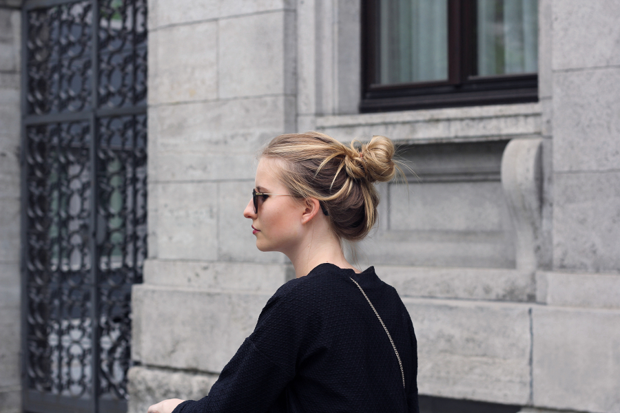 outfit blond sonnenbrille sacha frankfurt fashion blog girl urban makeup