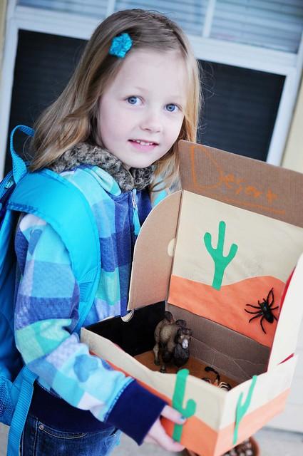 her school project