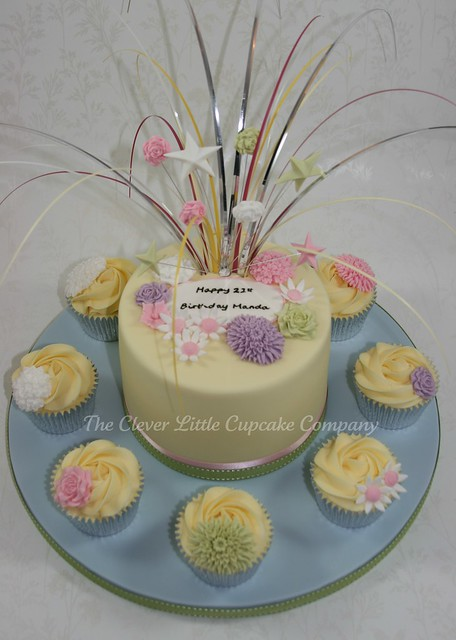 Pastel Flowers Birthday Cake  Flickr - Photo Sharing!