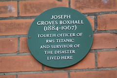 Photo of Joseph Groves Boxhall green plaque
