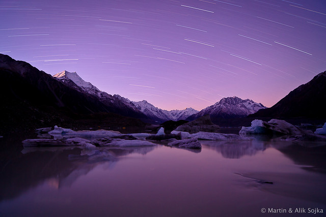Aoraki Star Trails ~ Mount Cook National Park, New Zealand