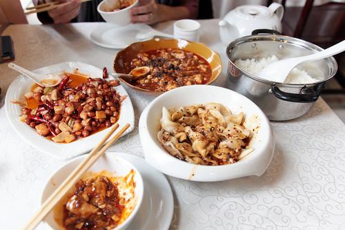 Mapo Tofu, Gongbao Chicken, and Zhong Dumplings
