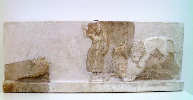 Athena relief with groups of animals, Hellenistic, 2nd century BC, Pergamon: Panorama of the Ancient City Exhibition, Pergamon Museum, Berlin