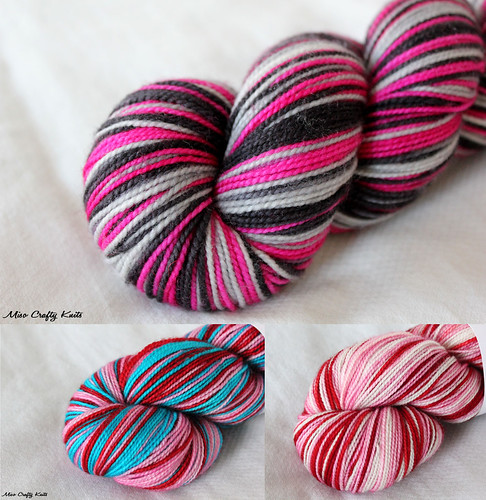 Self-striping Yarn Collage