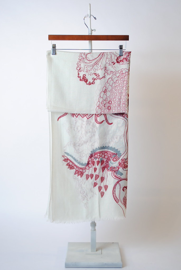 """Creatures - Red"" Scarf"