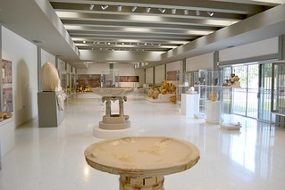Isthmia museum, main hall, July 2011