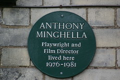 Photo of Anthony Minghella green plaque