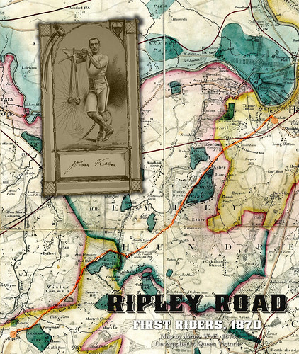 1874 Ripley Surrey map. Rider John Keen