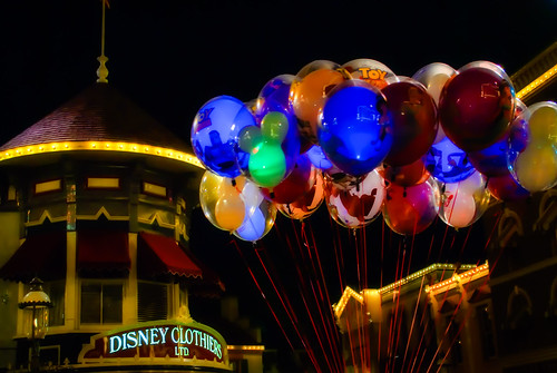 Disneyland 3:49 am:  Would You Like A Balloon? by hbmike2000