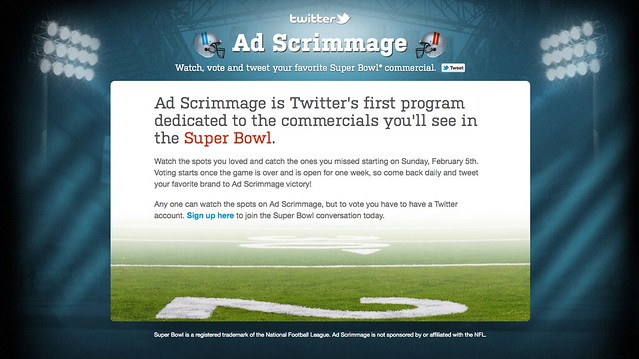 Twitter Ad Scrimmage Site Using My 20 Yard Line Creative Commons Photo
