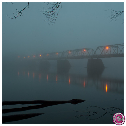 Foggy Frenchtown Bridge by • estatik •