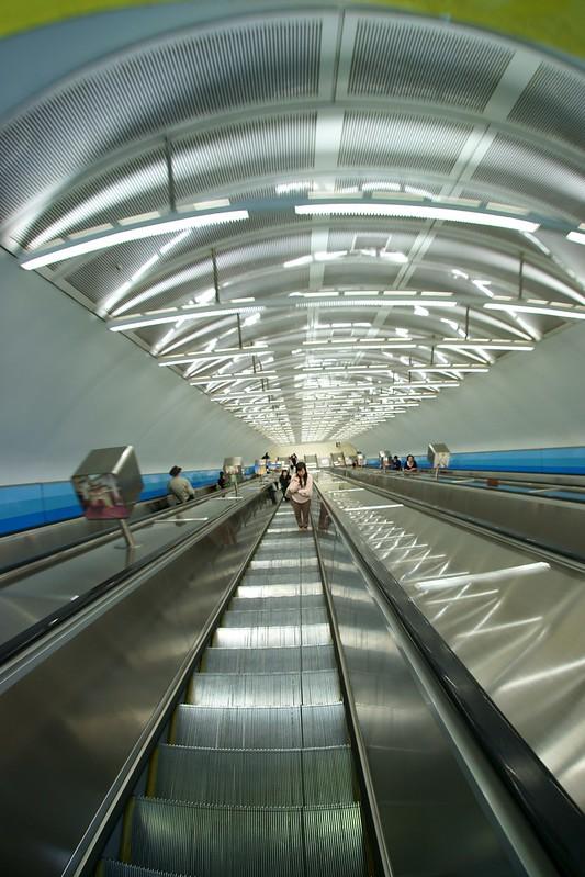 Underground station escalators, Melbourne
