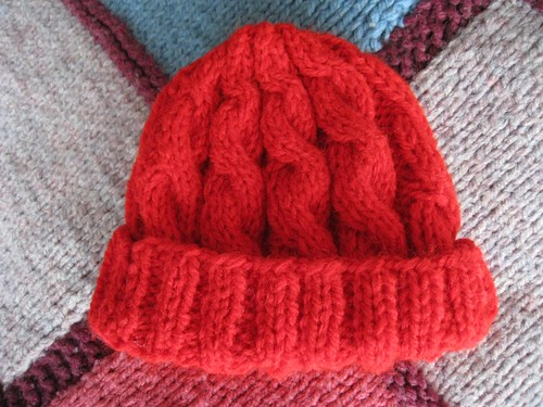 Baby cable hat #2