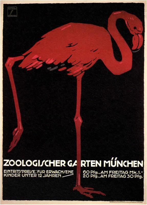 Ludwig Hohlwein. Munich Zoo. 1910