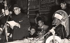 الجلسة الأولى من جلسات الدورة الثانية لمؤتمر العالم الإسلامي - 9 شباط 1951